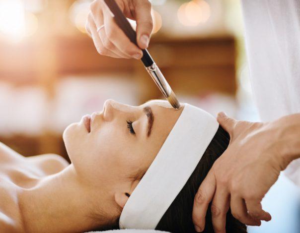 Women Receiving Chemical Peel Facial
